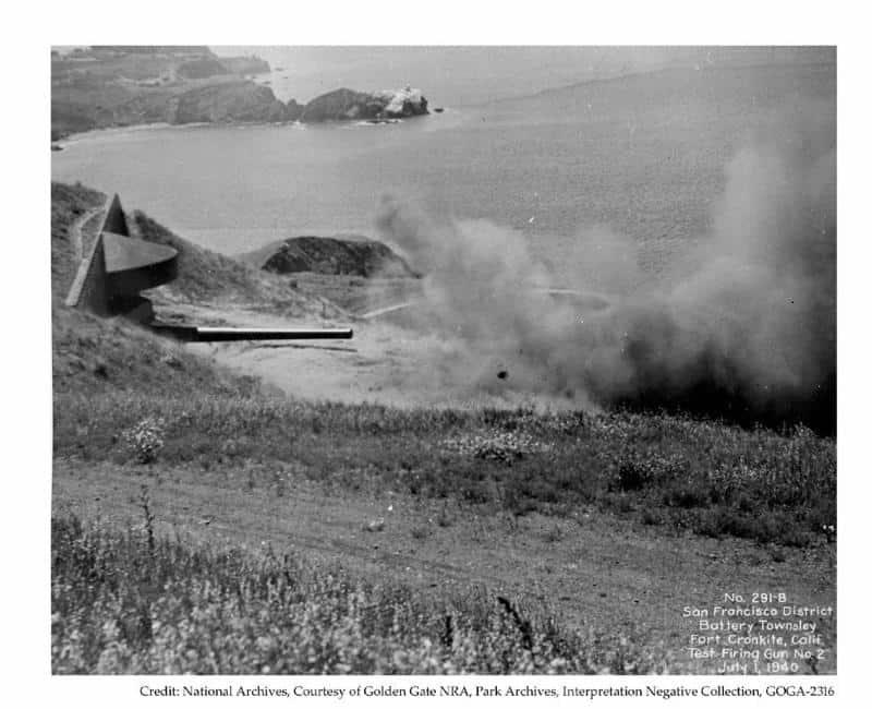 Battery Townsley Test Firing Gun No 2 - July 1, 1940