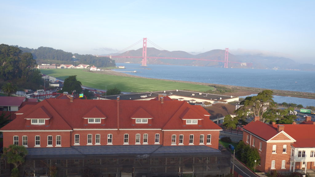 The Lodge looking towards Golden Gate Bridge
