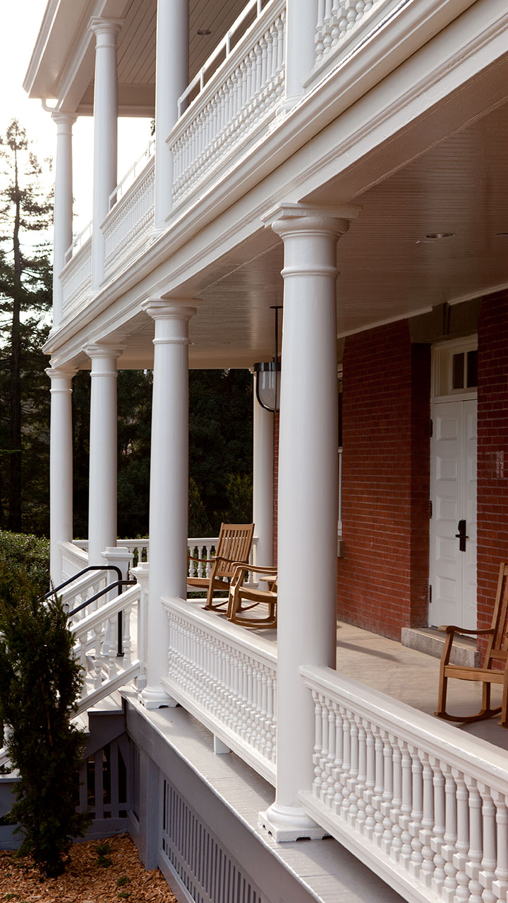 Inn at the Presidio Front Porch and Rocking Chairs
