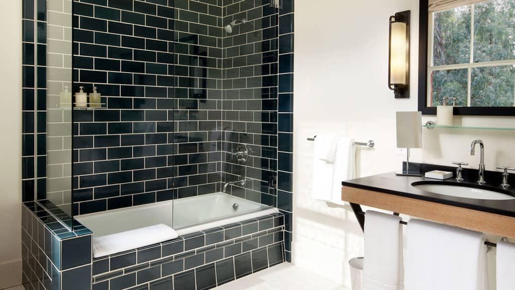 Inn at the Presidio Tile Shower and Tub