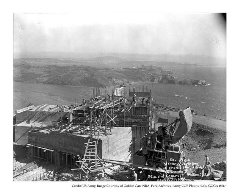 Presidio of San Francisco Battery Townsley Under Construction - 1930s