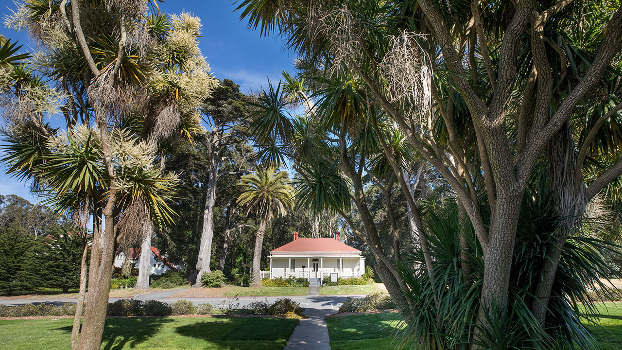The Funston House With Yucca Trees