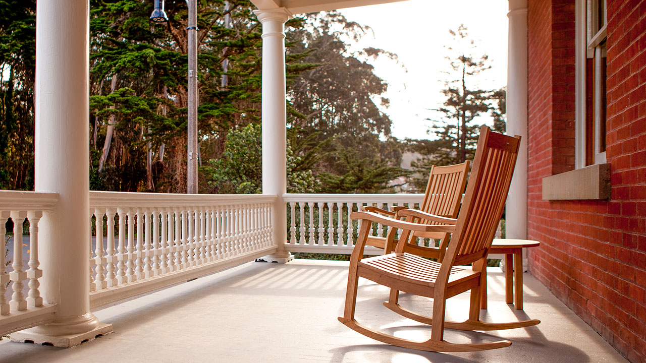 Inn at the Presidio Rocking Chairs And Front Porch