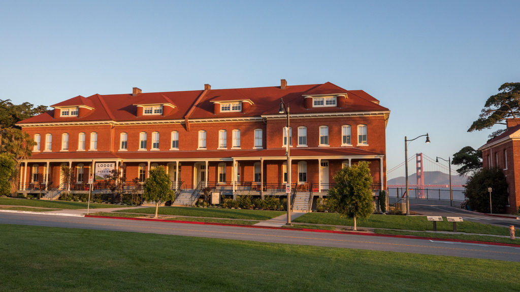 Lodge at the Presidio With Golden Gate Bridge