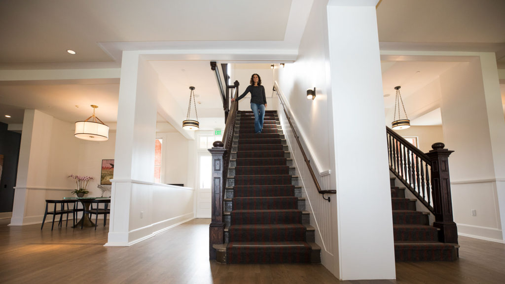 Stepping Down The Staircase at Lodge at the Presidio