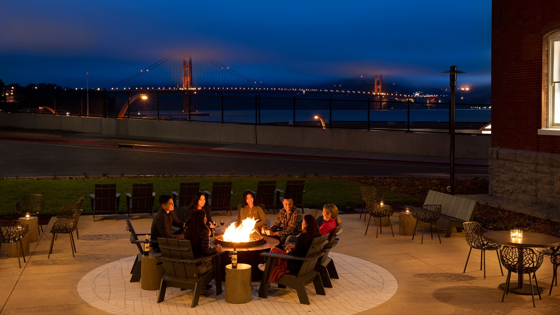Lodge at the Presidio Outdoor Patio and Fire Pit