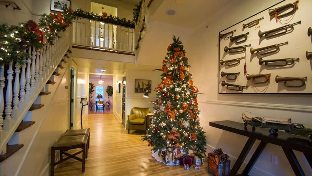 Christmas Decorations Inside at Inn at the Presidio