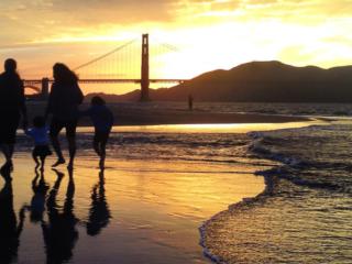 Crissy Field Beach At Sunset