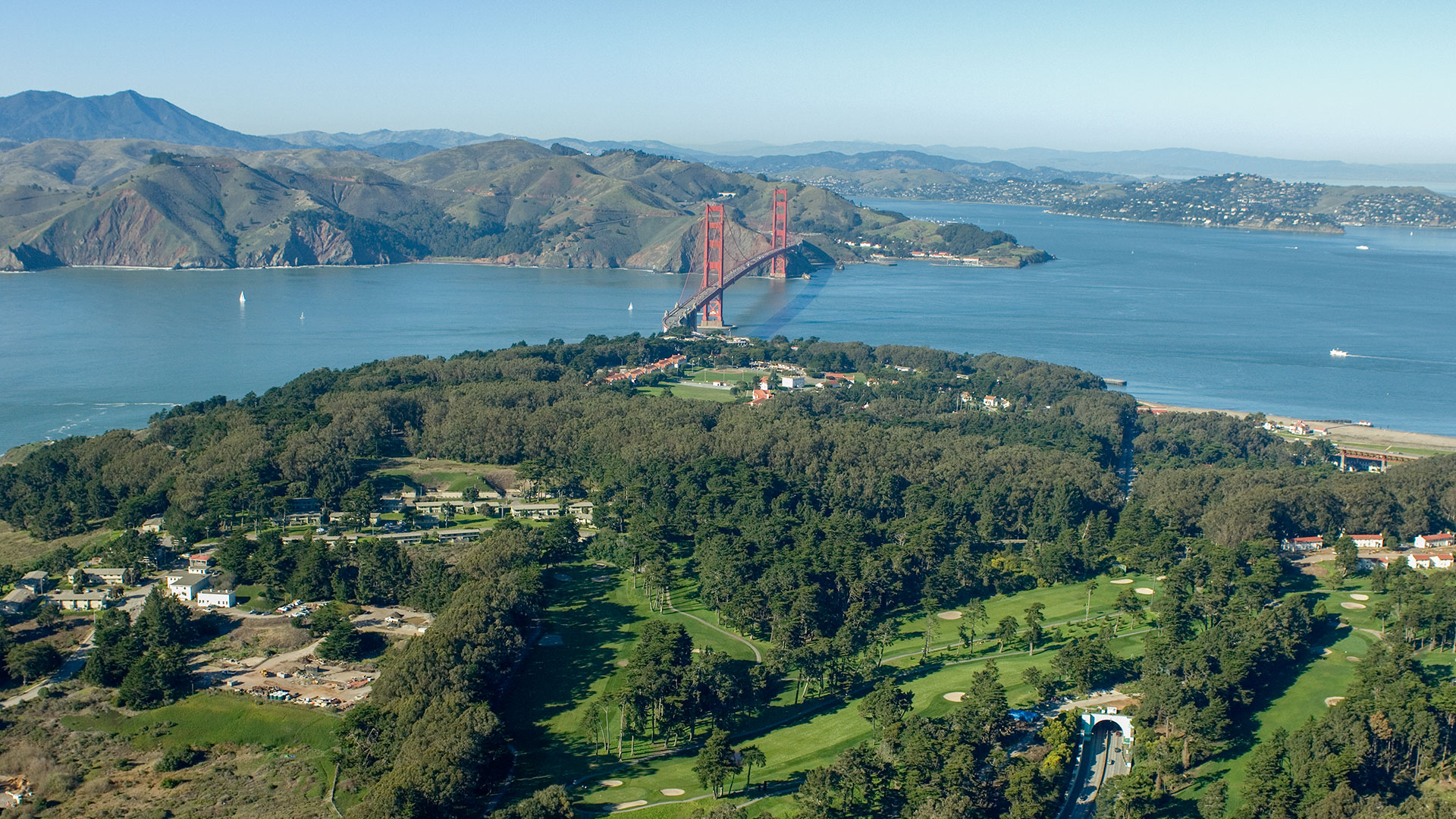 Western View Of The Presidio of San Francisco CA