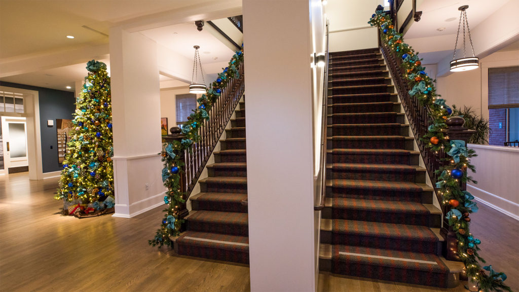 Inside Lodge at the Presidio Decorated For Christmas 2018